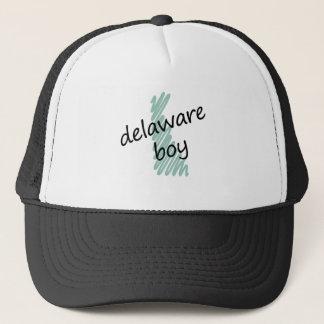 Delaware Boy on s Delaware Map Drawing Trucker Hat