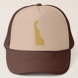 Delaware Buff Tan State Snap Back Mesh Trucker Hat