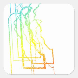 delaware chill blur square sticker