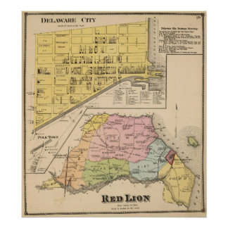 Delaware City, Red Lion Poster