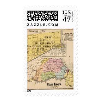 Delaware City, Red Lion Stamp