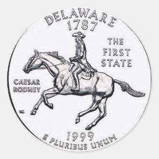 Delaware Classic Round Sticker