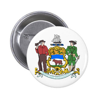 Delaware Coat of Arms Pinback Button