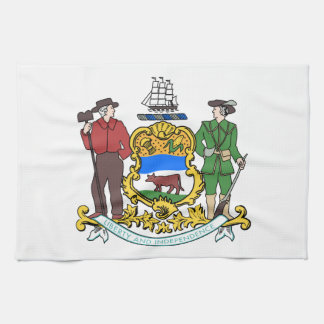 Delaware Coat of Arms Kitchen Towel