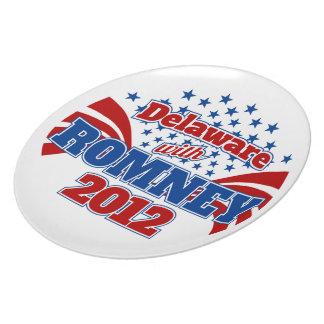 Delaware con Romney 2012 Plato Para Fiesta