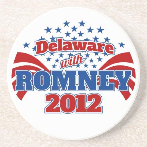 Delaware con Romney 2012 Posavasos Personalizados