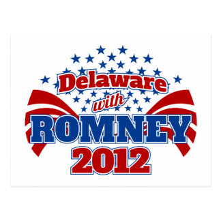 Delaware con Romney 2012 Postal
