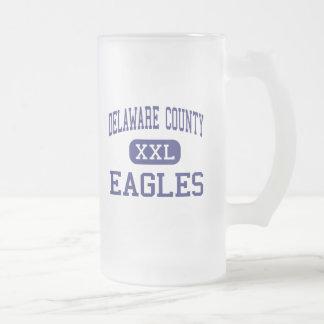 Delaware County Eagles Middle Essington Frosted Glass Beer Mug