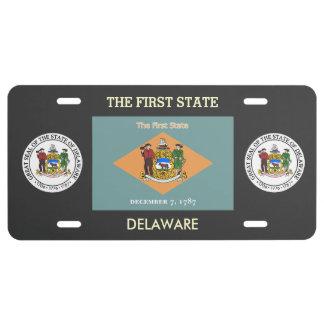 Delaware Custom Front License Plate