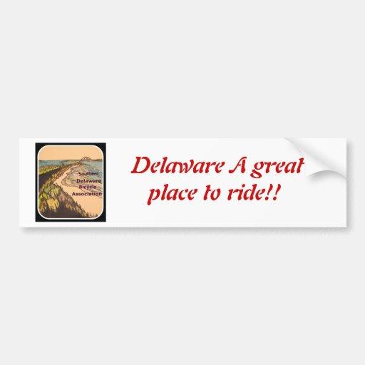 Delaware cycling car bumper sticker