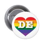 Delaware DE rainbow pride heart Pins