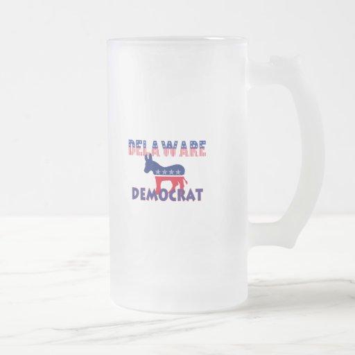 Delaware Democrat 16 Oz Frosted Glass Beer Mug