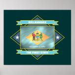 Delaware Diamond Poster
