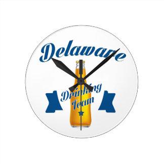Delaware Drinking team Round Clock