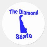 Delaware: El estado del diamante Pegatina