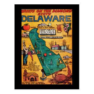 Delaware el estado del diamante postal