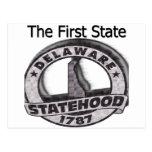 Delaware el primer Statehood del estado Postales