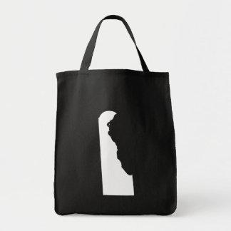 Delaware en blanco y negro bolsa tela para la compra