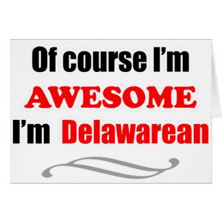 Delaware es impresionante tarjeta de felicitación