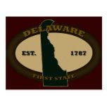 Delaware Est. 1787 Postales