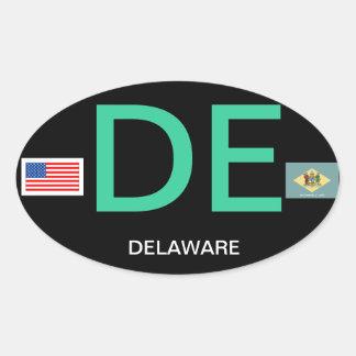 Delaware* Euro-style Oval Bumper Sticker