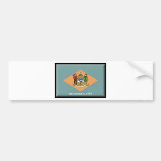 Delaware Flag Bumper Sticker