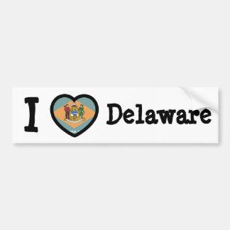 Delaware Flag Bumper Stickers
