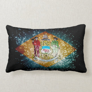 Delaware Flag Firework Lumbar Pillow
