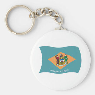 Delaware Flag Keychain