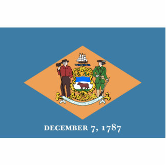 Delaware Flag Keychain Cut Out