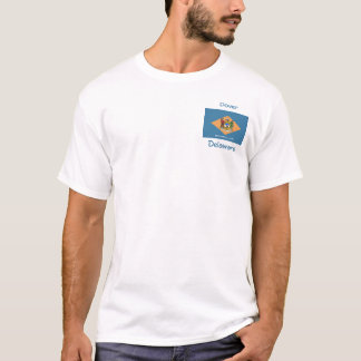 Delaware Flag Map City T-Shirt