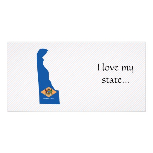 Delaware Flag Map Photo Card