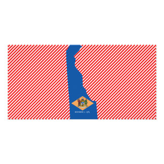 Delaware Flag Map Picture Card