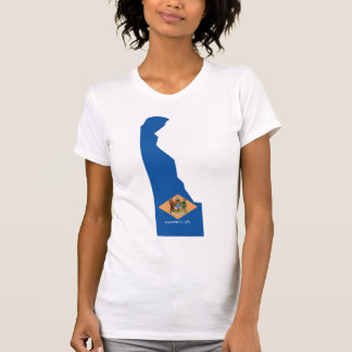 Delaware Flag Map T-Shirt