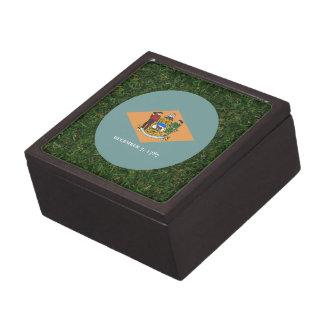 Delaware Flag on Grass Premium Gift Boxes