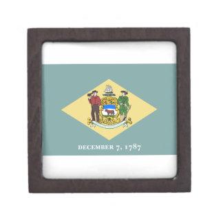 Delaware Flag Premium Jewelry Box