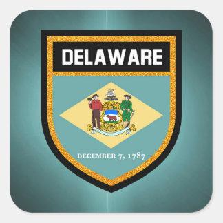 Delaware Flag Square Sticker