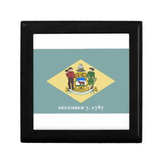 Delaware Flag Trinket Boxes