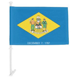 DELAWARE Flag Car Flag