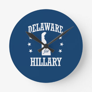 DELAWARE FOR HILLARY ROUND CLOCK