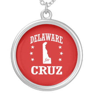 DELAWARE FOR TED CRUZ ROUND PENDANT NECKLACE