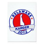 Delaware Fred Karger 5x7 Paper Invitation Card