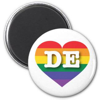 Delaware Gay Pride Rainbow Heart - Big Love 2 Inch Round Magnet
