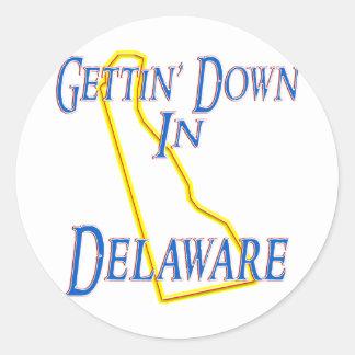 Delaware - Getting abajo Pegatina Redonda
