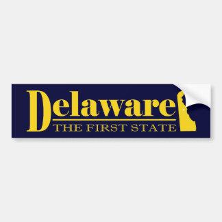 Delaware Gold Car Bumper Sticker