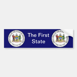 Delaware Great Seal Bumper Sticker