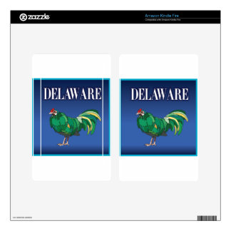 Delaware Green Chicken Skins For Kindle Fire