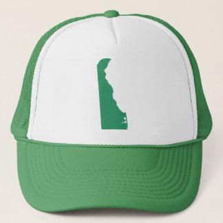 Delaware Green State Snap Back Mesh Trucker Hat