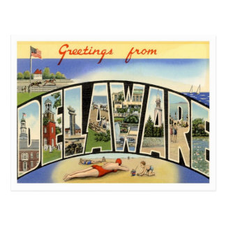Delaware Greetings From US States Postcard