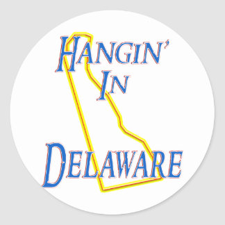 Delaware - Hangin' Classic Round Sticker
